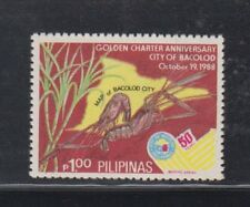Philippine Stamps 1988 Bacolod City Golden Charter complete MNH