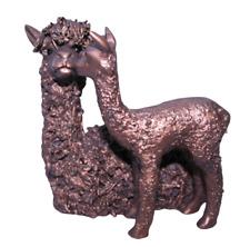 More details for alpaca & cria kissing bronze figure frith sculpture vb077 veronica ballan statue