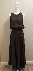 Kay Unger 100% Silk  Maxi Dress Womens Size 10   Black    A-02
