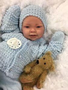 REBORN BOY HEAVY VALUE BABY FIRST REBORN SPANISH SET WITH MAGNETIC DUMMY Su
