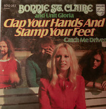 """Bonnie pcs Claire & UNIT GLORIA Clap Your Hands and Stamp 7 """" Singles (H163)"""