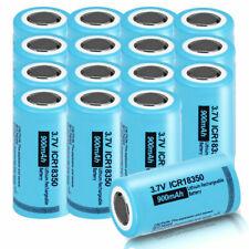 16PCS ICR18350 3.7V 900mAh Li-ion Rechargeable Batteries For Flashlights PKCELL