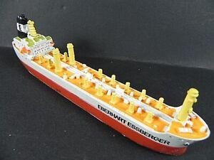 Ship Model Tanker Eberhart Essberger Hamburg, 7 1/8in Polyresin, Miniature Item