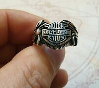 Motorcycle Logo Solid 925 Sterling Silver Mens Ring A+ Quality All Size