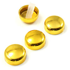 4 Gold License Plate Frame Screw Bolt Caps/Covers for Auto-Car-Truck-Motorcycle