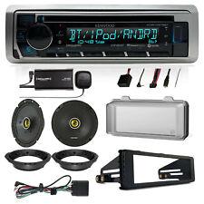 98-2013 HARLEY STEREO RADIO INSTALL ADAPTER DASH KIT FLHT FLHX FLHTC +2 SPEAKERS