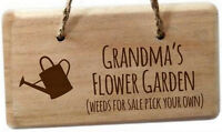 PERSONALISED Engraved WOODEN Hanging PLAQUE Sign For Shed Garden OUTDOOR Gift