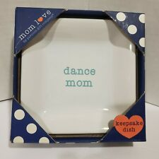 Dance Mom Ceramic Keepsake Dish 4.5 Inch Trinket Tray by Pavilion Company New