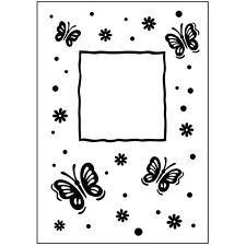 Butterfly Frame Darice Embossing Folder for Cardmaking, Scrapbooking, etc