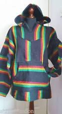 MEXICAN JERGA BAJA HOODY HOODIE HIPPY BIKER FESTIVAL FAIRTRADE SIZE XL RASTA rj8