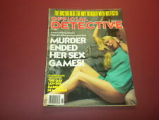 OFFICIAL DETECTIVE magazine 1978 January TRUE CRIME MURDER POLICE CASES