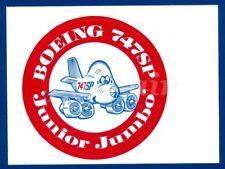RED BOEING 747SP JUNIOR JUMBO ROUND 4' STICKER