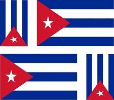 4x sticker Adesivo Adesivi decal decals Vinyl auto moto bandiera cuba cubana
