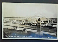1940 New Westminster BC To Winnipeg Manitoba New Fraser River Bridge RPPC Cover