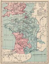 Guerre de cent ans. france en 1360. traité de bretigny. anglais lands 1907 carte