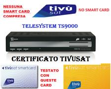 DECODER TIVUSAT TELESYSTEM TS9000 CERTIFICATO  TVSAT