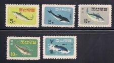 Korea. 1961 Sc # 291-95 Fishes Ngai (3-2942)