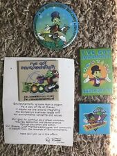 DISNEY IMAGINEERING RARE CAST MEMBER 1990s EARTH DAY BUTTONS SHIPS QUICK!