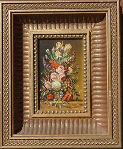Josef Kamenitzky Steiner, Blumenstilleben, Öl auf Holz, gerahmt 2