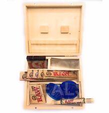 Scatola in legno di rotolamento CARTA GREZZA suggerimenti SMERIGLIATRICE Rolling Mat Trituratore