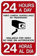 12x18 24 Hr Video Surveillance Sign Bilingual