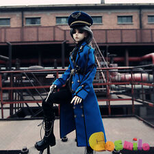 Clothing Jacket Blue Military Uniform Fit for 1/4 1/3 BJD Toy Doll Cosplay Sa