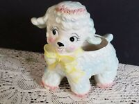 Samson Import Pink, blue, white Lamb Planter 4318 Relpo  1961