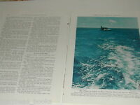 1943 magazine articles, US Navy Escort Carriers, ships, subs, color photos