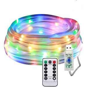 100/120/200 LED Rope Strip Tube String Fairy Light Christmas Garden Outdoor NEW
