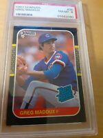 1987 donruss greg madden rated rookie psa 8 #36, Chicago cubs,HOF, clean card