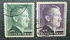 FRANCOBOLLI GERMANIA REICH 1942 EFFIGE ADOLF HITLER TIMBRATI USED (J 16)