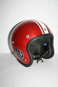 Rare 1966 Vintage Intecro GTX Red Metal Flake Racing Helmet Motorcycle