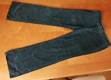 Velvet Herringbone 1960s pants trousers Prussian blue Unique slight flare 43Eu
