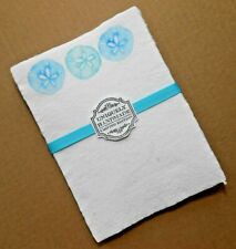 Handmade Paper Sheets - 9 sheets -White with sand dollars (860)) Free Shipping