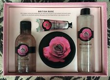 The Body Shop BRITISH ROSE PREMIUM COLLECTION GIFT SET 4 PIECE New Christmas