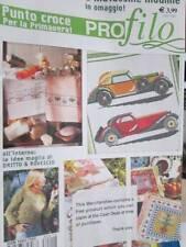 Profilo Punto Croce Italian Cross Stitch Magazine #18-Antique Cars/Dogs/Cats/Ele
