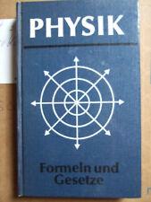Fachbuch Physik, Formeln und Gesetzt