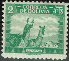 Bolivia Fauna Lamas in mountains stamp 1959 MLH