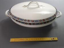 antigua Sopera de cerámica blanca limoges postal-grenoble