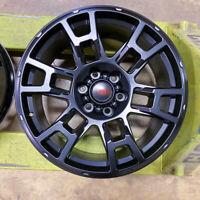 17X8 +5 6X139.7 BLACK WHEELS FITS TOYOTA TACOMA 4Runner FJ Cruiser 6X5.5 Hilux