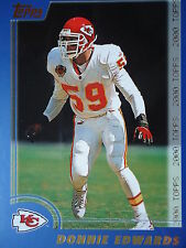 NFL 256 Donnie Edwards Kansas City chef TOPPS 2000