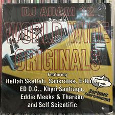 DJ ADAM 12 - WORLD WIDE ORIGINALS (EP) 1998!!!  RARE!!!  SAUKRATES + E-RULE!!!
