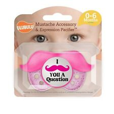 Expression Pacifiers Orthodontic Pink Mustache Pacifier & Accessory 0-6 Months
