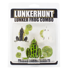Lunkerhunt 3-Piece Lunker Frog Combo Bass Fishing Hollow Body Topwater Frogs