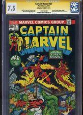 Captain Marvel #27 CGC 7.5 SS Jim Starlin Thanos AVENGERS INFINITY WAR Gauntlet