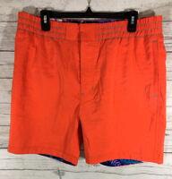 Robert Graham Starboard Woven Swim Trunks Board Shorts Mens Orange Size 36 $188