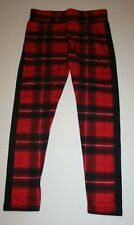 NEW Justice Red Black Plaid Buffalo Full Length Leggings 14 16 18 20 22 24 Girls