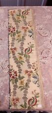 "18thC French Silver&Gold Metallic Polychrome Silk Brocade FabricTextile~37""Lx& #034;10"