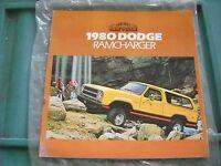 NOS MOPAR RAM TOUGH 1980 DODGE RAMCHARGER DEALER BROCHURE