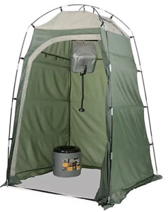YANES SHOWER / PRIVACY TENT WITH ZIP OPEN ROOF ACCESS & SOAP SHELF - NEW!